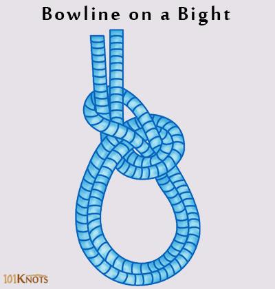 bowline on a bight knot