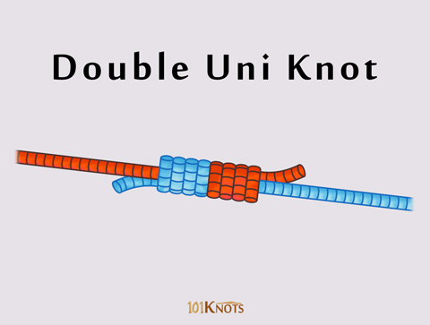 Double Uni Knot Or Uni To Uni Knot 101knots